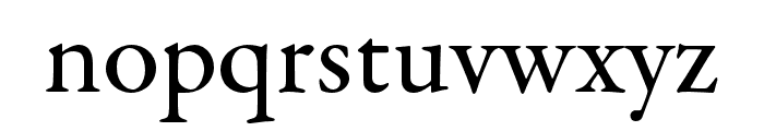 Garamond Premier Pro Medium Subhead Font LOWERCASE