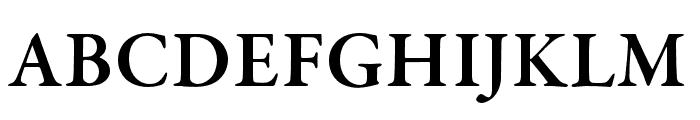 Garamond Premier Pro Semibold Display Font UPPERCASE