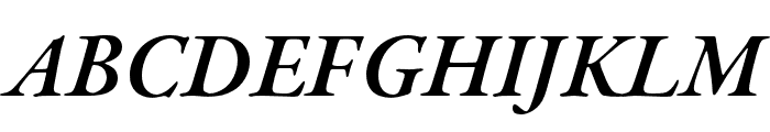 Garamond Premier Pro Semibold Italic Caption Font UPPERCASE
