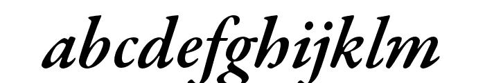 Garamond Premier Pro Semibold Italic Caption Font LOWERCASE