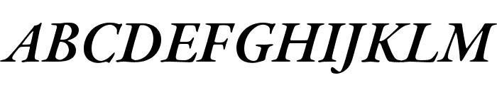 Garamond Premier Pro Semibold Italic Display Font UPPERCASE