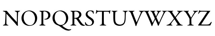 Garamond Premier Pro Subhead Font UPPERCASE