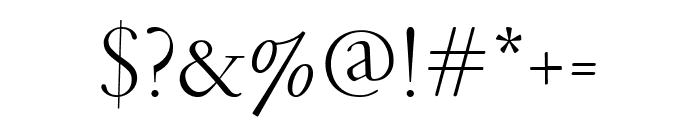 GaramondFBDisplay Light Font OTHER CHARS