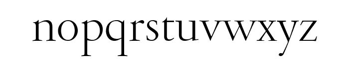 GaramondFBDisplay Light Font LOWERCASE