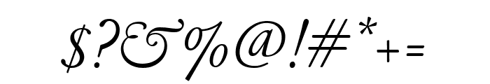 GaramondFBText LightItal Font OTHER CHARS