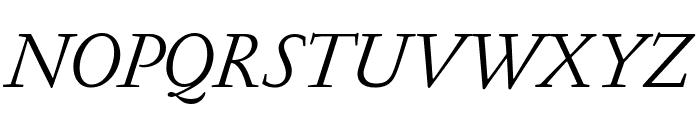 GaramondFBText RegularItal Font UPPERCASE