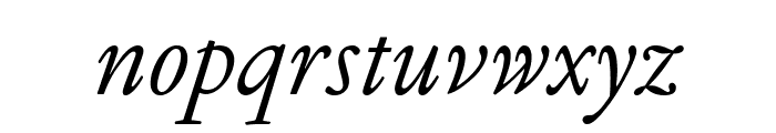 GaramondFBText RegularItal Font LOWERCASE