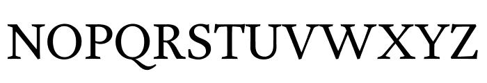 Garvis Pro Regular Font UPPERCASE