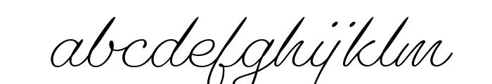 Gautreaux Light Font LOWERCASE