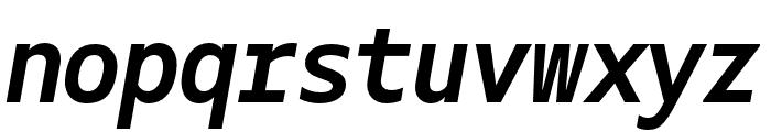 Gemeli Mono Bold Italic Font LOWERCASE