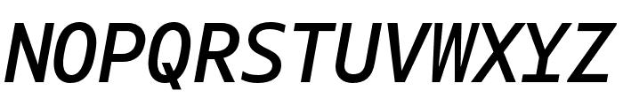 Gemeli Mono Italic Font UPPERCASE