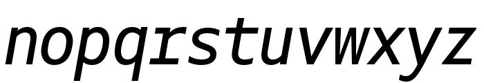 Gemeli Mono Italic Font LOWERCASE