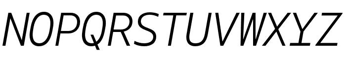 Gemeli Mono Light Italic Font UPPERCASE