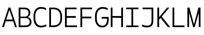 Gemeli Mono Light Font UPPERCASE