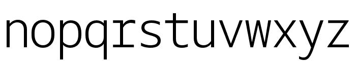Gemeli Mono Light Font LOWERCASE