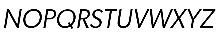 Gibson Book Italic Font UPPERCASE