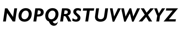 Gill Sans Nova Condensed Bold Italic Font UPPERCASE
