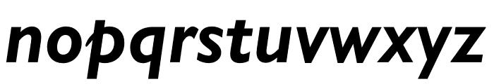 Gill Sans Nova Condensed Bold Italic Font LOWERCASE