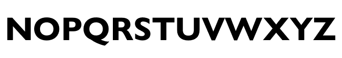 Gill Sans Nova Condensed Bold Font UPPERCASE