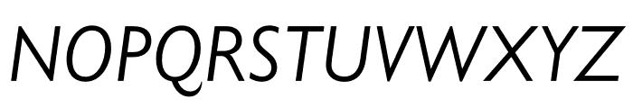Gill Sans Nova Condensed Book Italic Font UPPERCASE