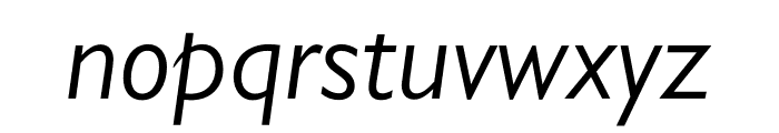Gill Sans Nova Condensed Book Italic Font LOWERCASE