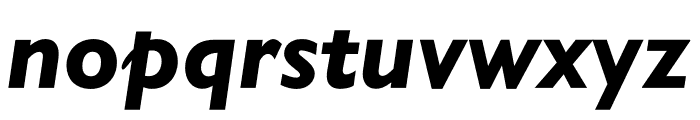 Gill Sans Nova Condensed Heavy Italic Font LOWERCASE