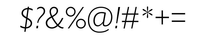Gill Sans Nova Condensed Light Italic Font OTHER CHARS