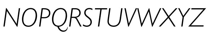 Gill Sans Nova Condensed Light Italic Font UPPERCASE