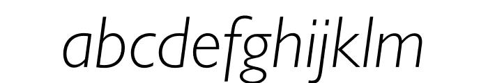 Gill Sans Nova Condensed Light Italic Font LOWERCASE