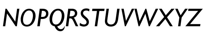 Gill Sans Nova Condensed Medium Italic Font UPPERCASE