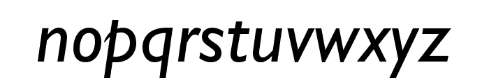 Gill Sans Nova Condensed Medium Italic Font LOWERCASE