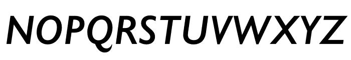 Gill Sans Nova Condensed SemiBold Italic Font UPPERCASE