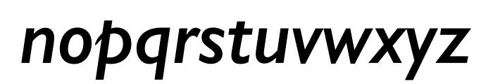 Gill Sans Nova Condensed SemiBold Italic Font LOWERCASE