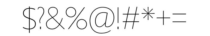 Gill Sans Nova Condensed UltraLight Font OTHER CHARS