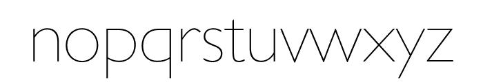 Gill Sans Nova Condensed UltraLight Font LOWERCASE