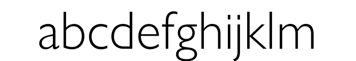 Gill Sans Nova Shadowed Light Font LOWERCASE