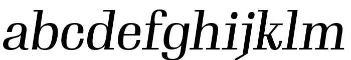 Gimlet Display Compressed Italic Font LOWERCASE