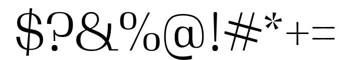 Gimlet Display Compressed Light Font OTHER CHARS