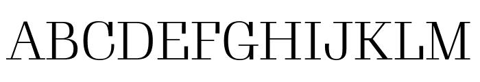 Gimlet Display Condensed Light Font UPPERCASE