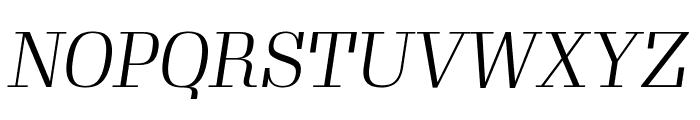 Gimlet Display Narrow Light Italic Font UPPERCASE