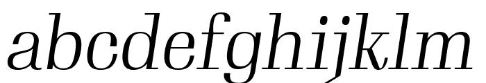 Gimlet Display Narrow Light Italic Font LOWERCASE