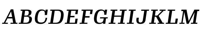 Gimlet Micro Narrow Medium Italic Font UPPERCASE