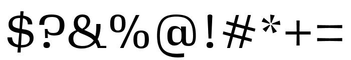 Gimlet Micro Narrow Regular Font OTHER CHARS