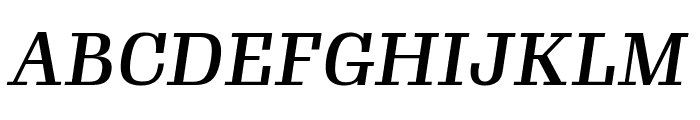 Gimlet Text Condensed Medium Italic Font UPPERCASE