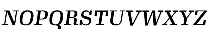 Gimlet Text Medium Italic Font UPPERCASE