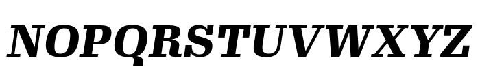 Gimlet Text Narrow Black Italic Font UPPERCASE