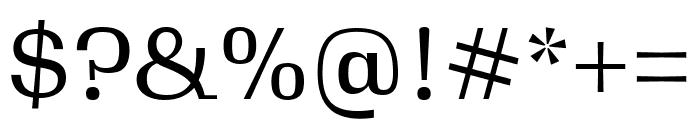 Gimlet Text Regular Font OTHER CHARS
