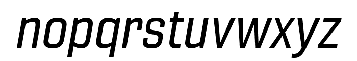 Gineso Cond Medium Italic Font LOWERCASE