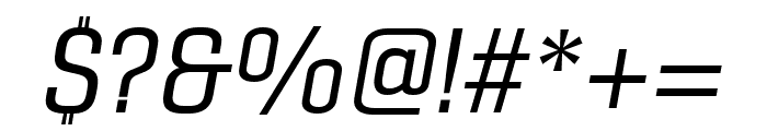 Gineso Cond Regular Italic Font OTHER CHARS