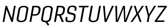 Gineso Cond Regular Italic Font UPPERCASE